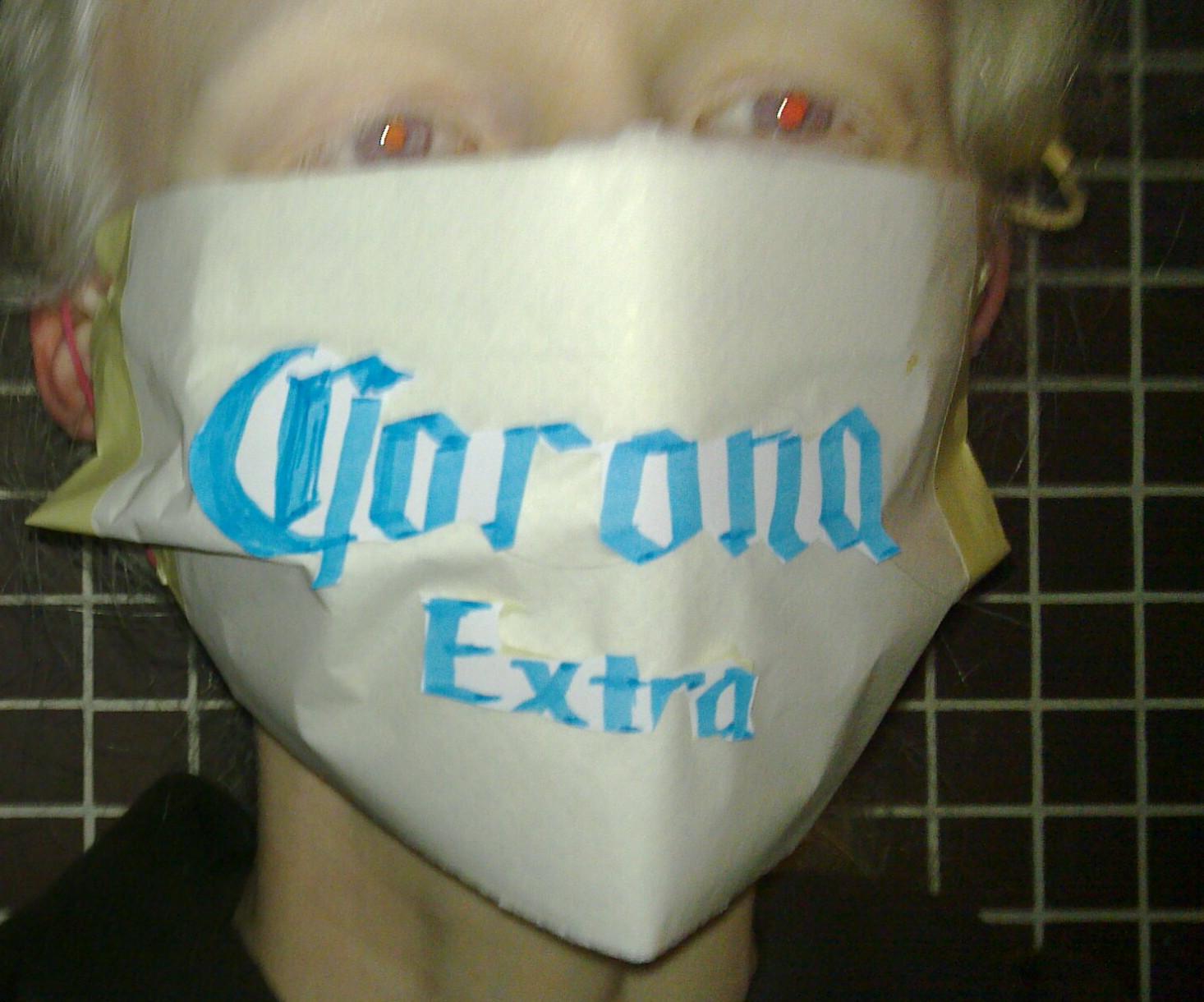 [IMG: Corona Extra mask]